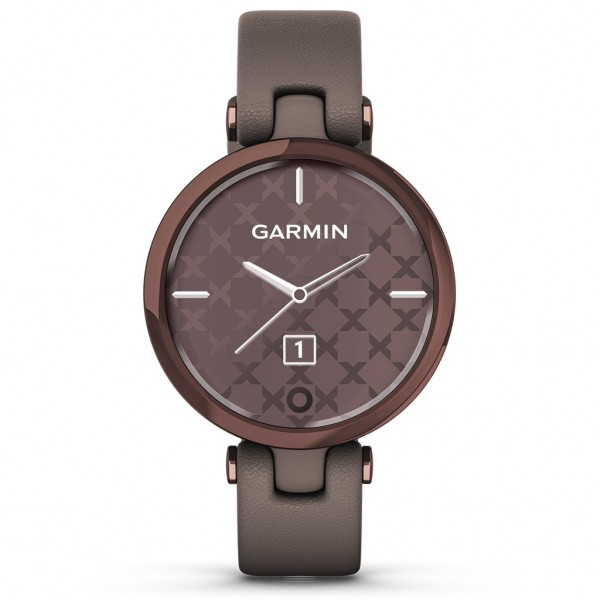 Garmin Lily Classic Dark Bronze Bezel with Paloma Case and Italian Leather Band 010-02384-B0
