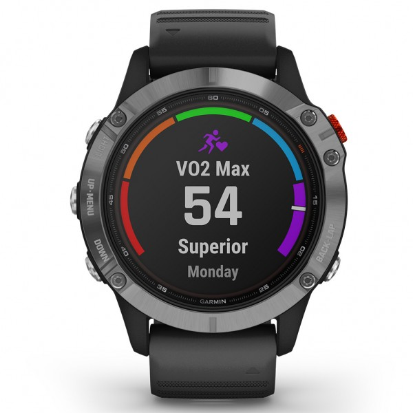 Garmin Fenix 6 Solar Silver with Black Band 010-02410-00