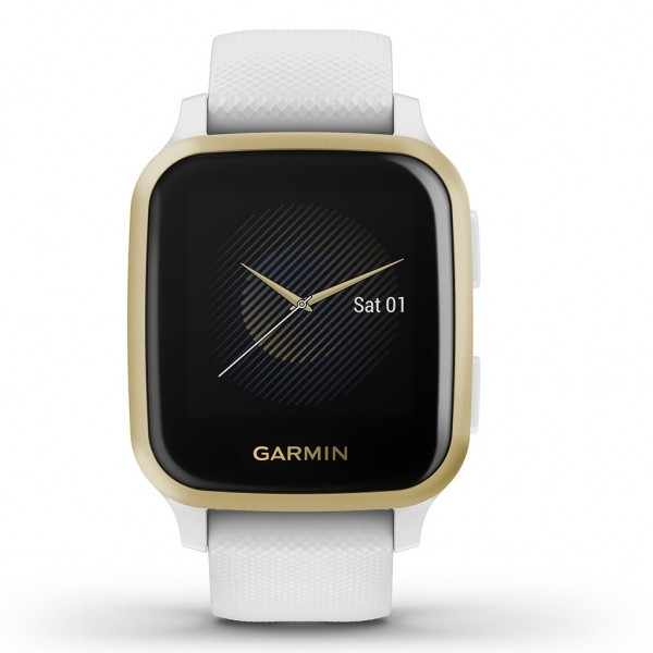 Garmin Venu Sq with White with Light Gold Bezel 010-02427-11