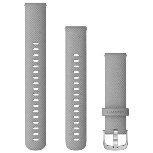 Garmin Λουρί 18mm Quick Release Powder Gray/Silver 010-12932-00