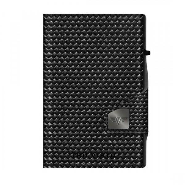 Tru Virtu Πορτοφόλι Click & Slide Diagonal Carbon Black/Black 24104000418