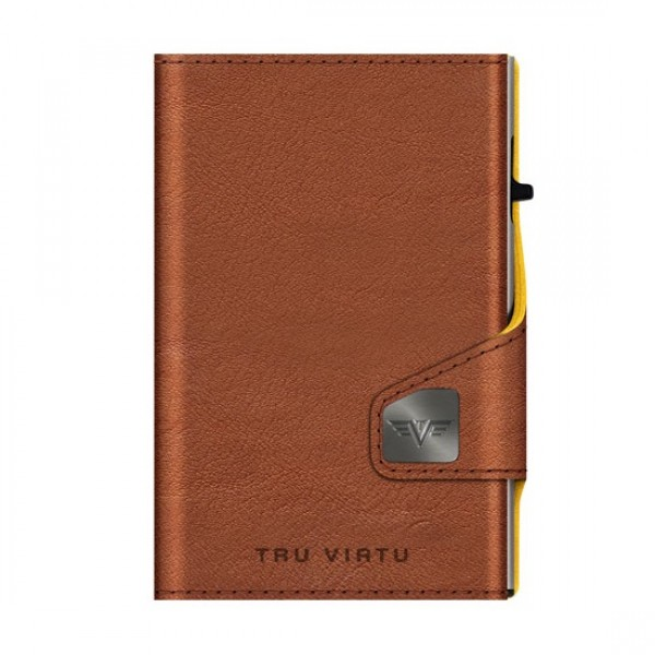 Tru Virtu Πορτοφόλι Click & Slide Natural Brown-Yell/Silver 24104013404