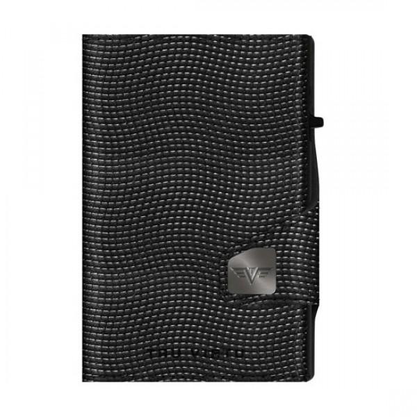 Tru Virtu Πορτοφόλι Click & Slide Coin Pocket Lizard Black/Black 28104000307