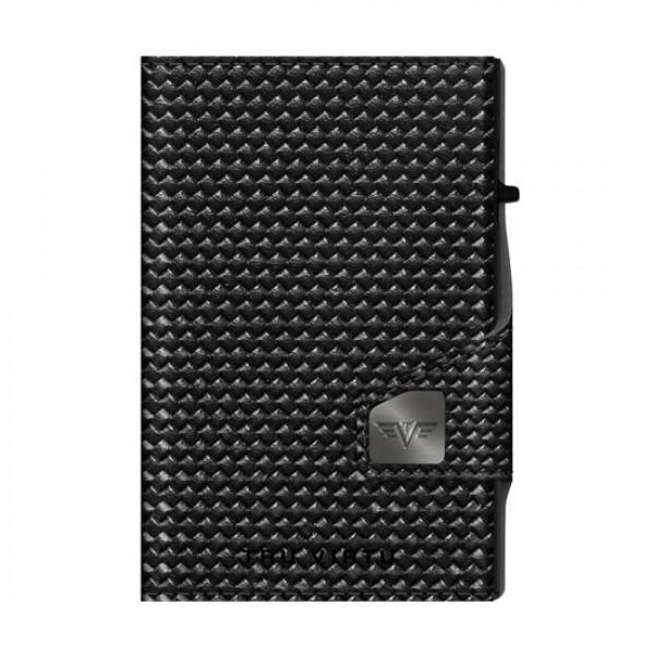 Tru Virtu Πορτοφόλι Click & Slide Coin Pocket Diagonal Carbon/Black  28104000418