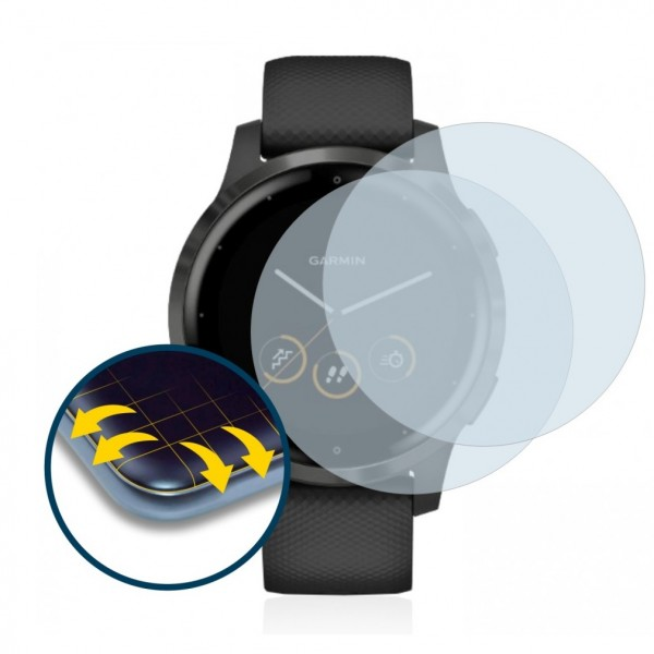 Brotect Flex Screen Protection  για Garmin Vivoactive 4s (2 τεμ - 40mm)