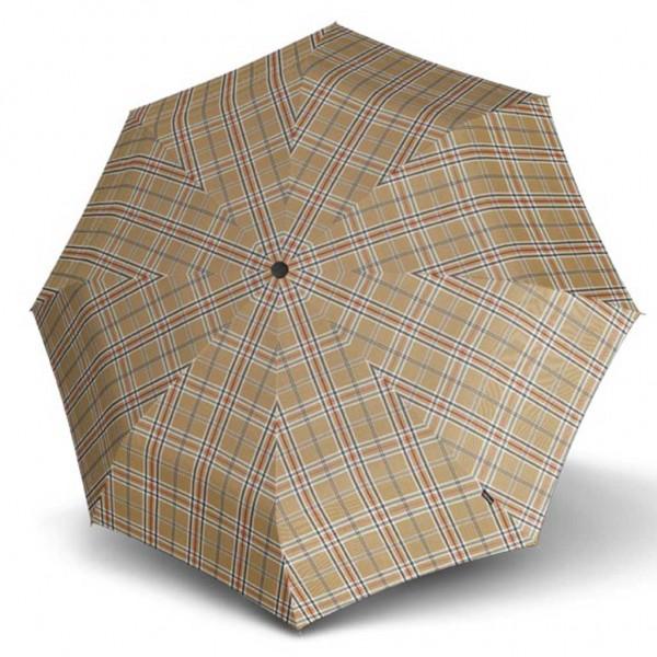 Knirps T Series Duomatic ομπρέλα βροχής Checks Beige 32015390