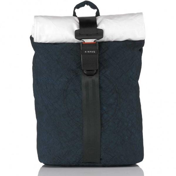 Airpaq Classiq 2.0 Rolltop/White Σακίδιο Πλάτης Blue