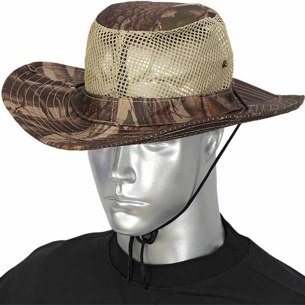 Barbaric καπέλο Boonie Leaf Brown Mosquito Net 30570