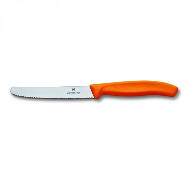 Victorinox Μαχαίρι κουζίνας 11 εκ. στρογγυλό, οδοντωτό Πορτοκάλι 6.7836.L119