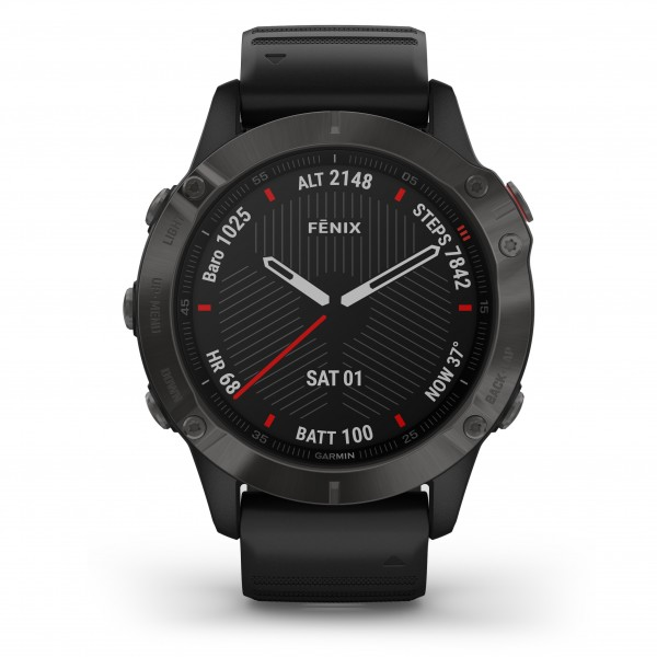 Garmin Fenix 6 Sapphire Carbon Gray DLC with Black Band 010-02158-11