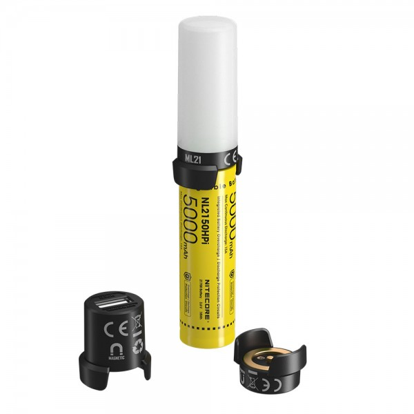 Nitecore Φακός Led Magnetic Light, 21700 Intelligent Battery System Share 5000Mah ML21