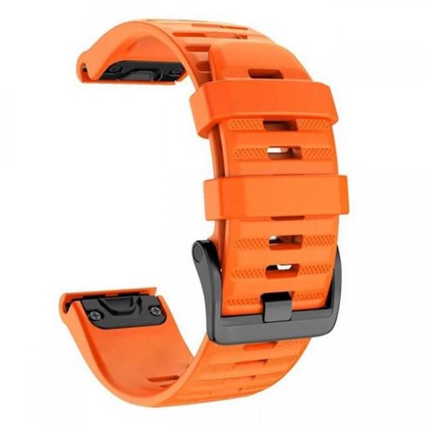 OEM Λουρί Σιλικόνης Πορτοκαλί Quick Fit για Garmin Fenix 3 / 5X / 6X