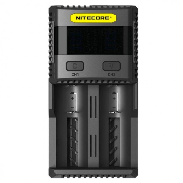 Nitecore Ψηφιακός Ταχυφορτιστής Δύο Θέσεων SC2