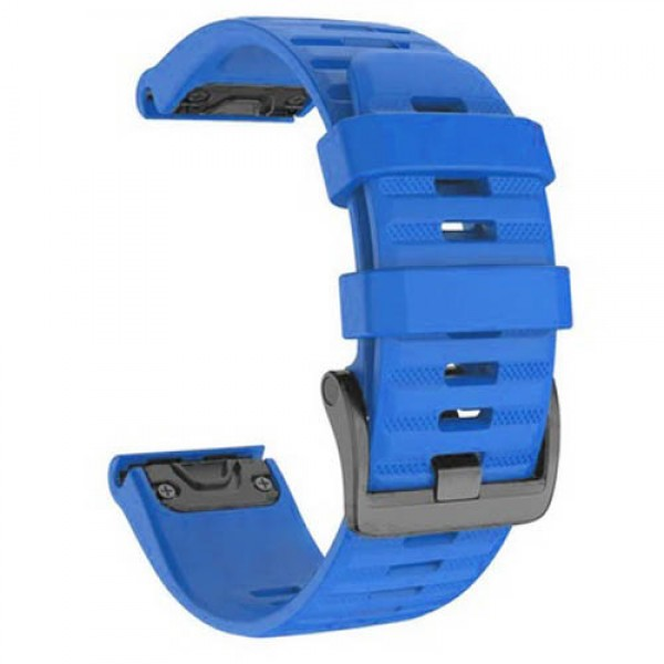 OEM Λουρί Σιλικόνης Μπλε Quick Fit για Garmin Fenix 3 / 5X / 6X