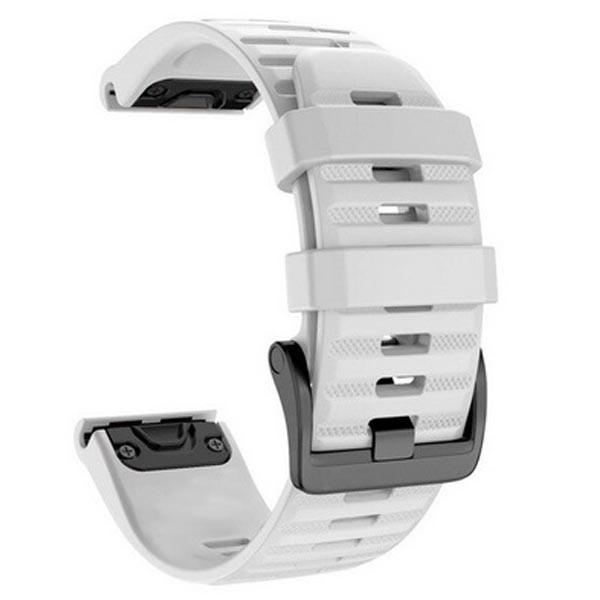 OEM Λουρί Σιλικόνης Άσπρο Quick Fit για Garmin Fenix 3 / 5X / 6X