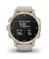 Garmin Descent Mk2S Light Gold with Light Sand Silicone Band 010-02403-01