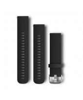 Garmin Λουρί 20mm Quick Release Black/Silver 010-12561-02