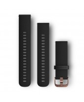 Garmin Λουρί Vivomove HR Black with Rose Gold Hardware 010-12691-03
