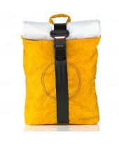 Airpaq Classiq 2.0 Rolltop/White Σακίδιο Πλάτης Yellow