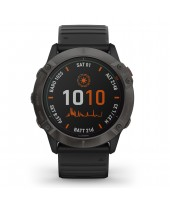 Garmin Fenix 6X Pro Solar Titanium Carbon Gray DLC with Black Band 010-02157-21