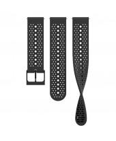 Suunto Λουρί 22mm Athletic 1 Silicone Strap All Black SS050691000