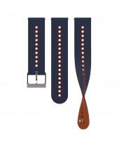 Suunto Λουρί 22mm Urban 4 Silicone Strap Granite Blue Orange SS050698000