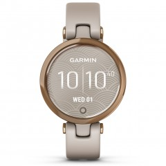 Garmin Lily Sport Rose Gold Bezel with Light Sand Case and Silicone Band 010-02384-11
