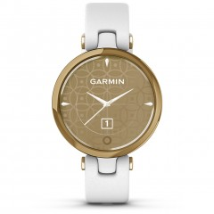 Garmin Lily Classic Gold Bezel with White Case and Italian Leather Band 010-02384-B3