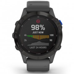 Garmin Fenix 6 Pro Solar Black with Slate Gray Band 010-02410-11
