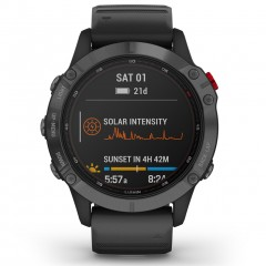 Garmin Fenix 6 Pro Solar Slate Gray with Black Band 010-02410-15