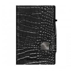 Tru Virtu Πορτοφόλι Click & Slide Croco Black/Black 24104000208