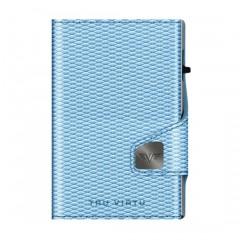 Tru Virtu Πορτοφόλι Click & Slide Rhombus LightBLue/Silver 24104000312