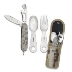 Albainox Σετ μαχαίρι-κουτάλι-πιρουνι-ανοιχτήρι 33045