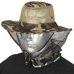 Barbaric καπέλο Boonie Brown Camo Mosquito Net 30571