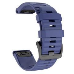 OEM Λουρί Σιλικόνης Dark Blue Quick Fit για Quick Fit για Garmin Fenix 5 / 6