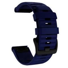 OEM Λουρί Σιλικόνης Dark Blue Quick Fit για Garmin Fenix 3 / 5X / 6X