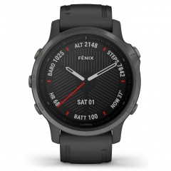 Garmin Fenix 6S Sapphire Carbon Gray DLC with Black Band 010-02159-25