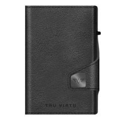 Tru Virtu Πορτοφόλι Click & Slide Coin Pocket Nappa Black 28104000108