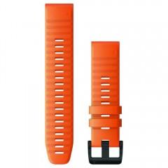 Garmin Λουρί QuickFit 22 Ember Orange Silicone Fenix 6 010-12863-01