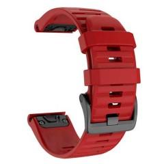 OEM Λουρί Σιλικόνης Κόκκινο Quick Fit για Garmin Fenix 5s / 6s
