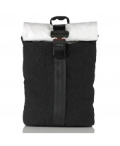 Airpaq Classiq 2.0 Rolltop/White Σακίδιο Πλάτης Black