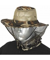 Barbaric καπέλο Boonie Brown Camo Mosquito Net 30571