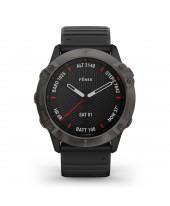 Garmin Fenix 6X Sapphire Carbon Gray DLC with Black Band 010-02157-11