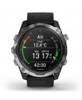 Garmin Descent Mk2 Stainless steel with black band 010-02132-10