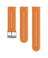 Suunto Λουρί 24mm Athletic 7 Silicon Strap Granite Orange SS050688000